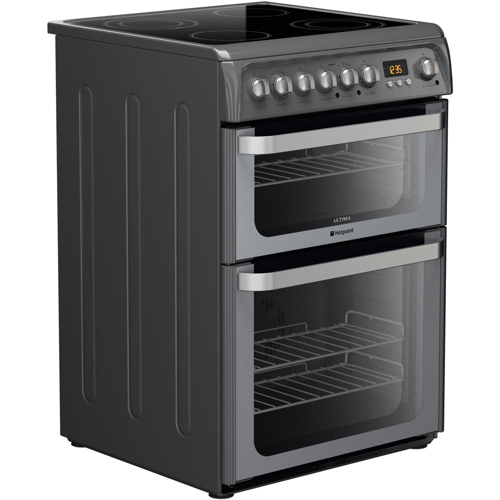 Hotpoint Electric Freestanding Double Cooker 60cm Hue61g S Oven Wiring Instructions Ultima Graphite