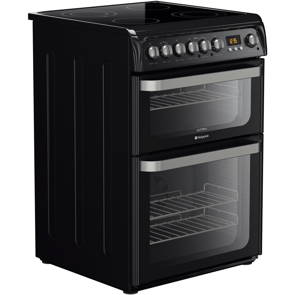 Hotpoint Ultima HUE61K S Cooker - Black