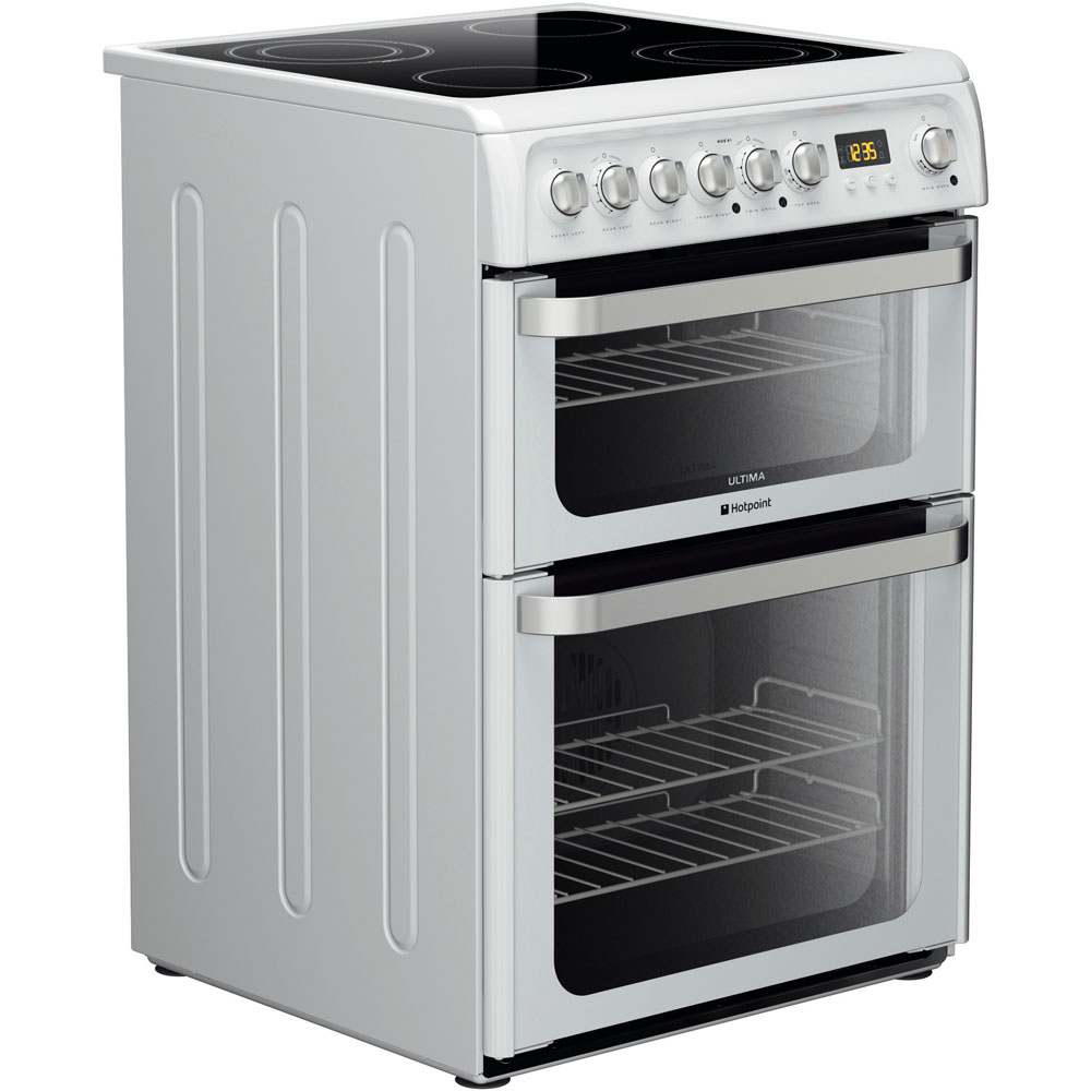 Hotpoint electric freestanding double cooker: 60cm - HUE61P S | Hotpoint