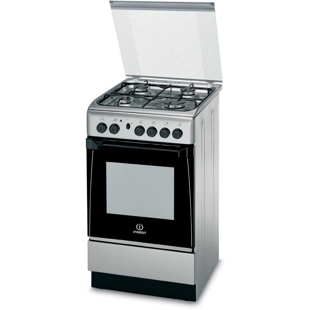 Cucina a gas a libera installazione indesit 50 cm kn1g21s x i s - Cucine a gas indesit ...