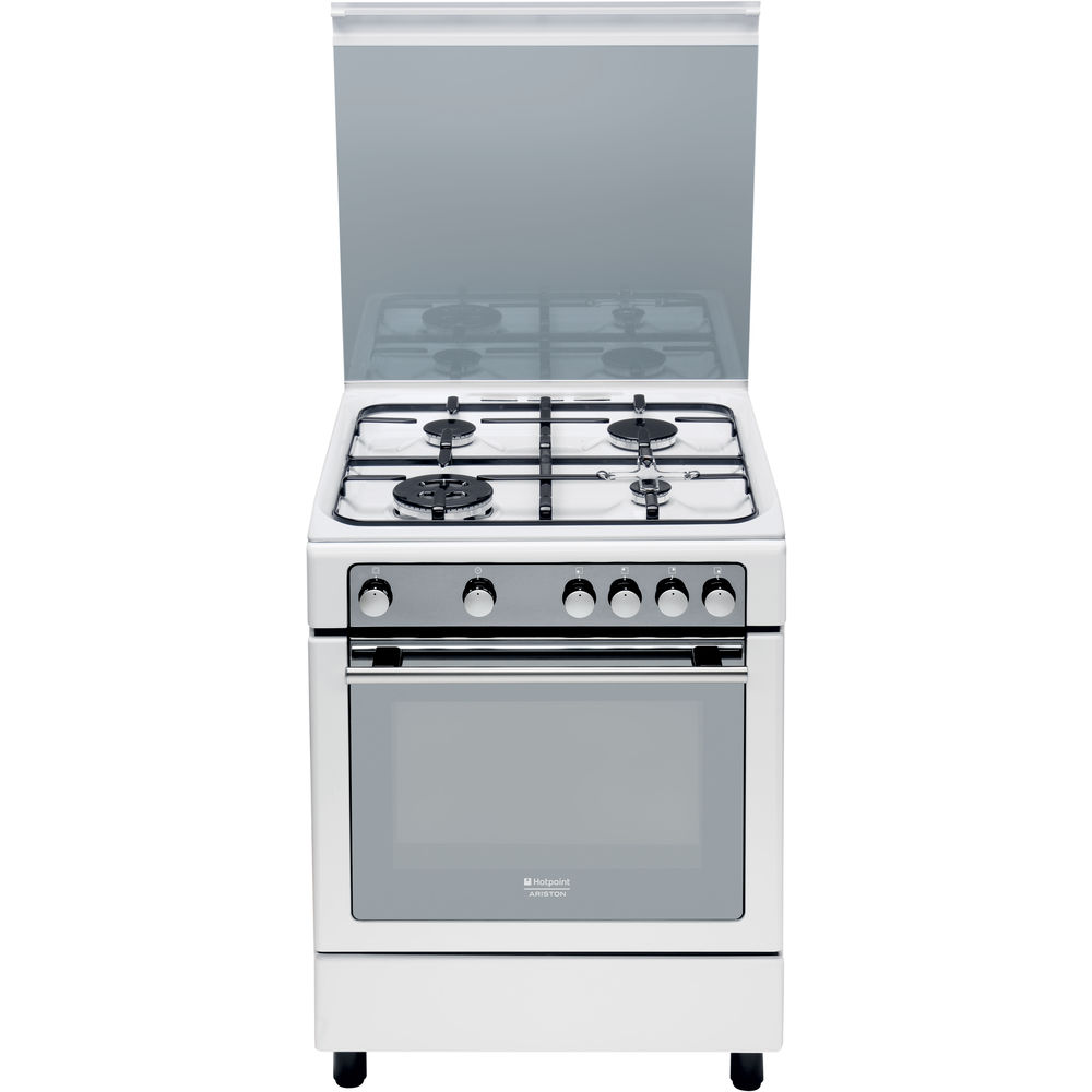 60 cm: Cucina a gas a libera installazione Hotpoint - CG65SG1 (W) IT ...