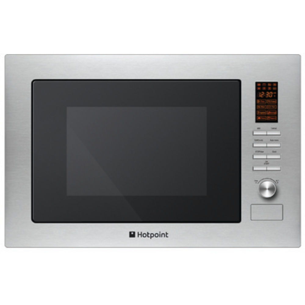 Hotpoint built in microwave oven: stainless steel color