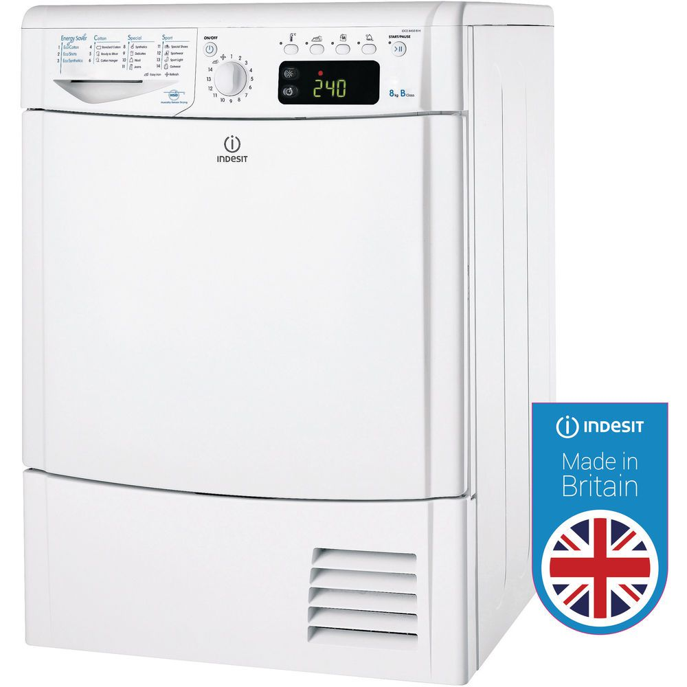 Indesit Ecotime IDCE 8450 B H Tumble Dryer in White