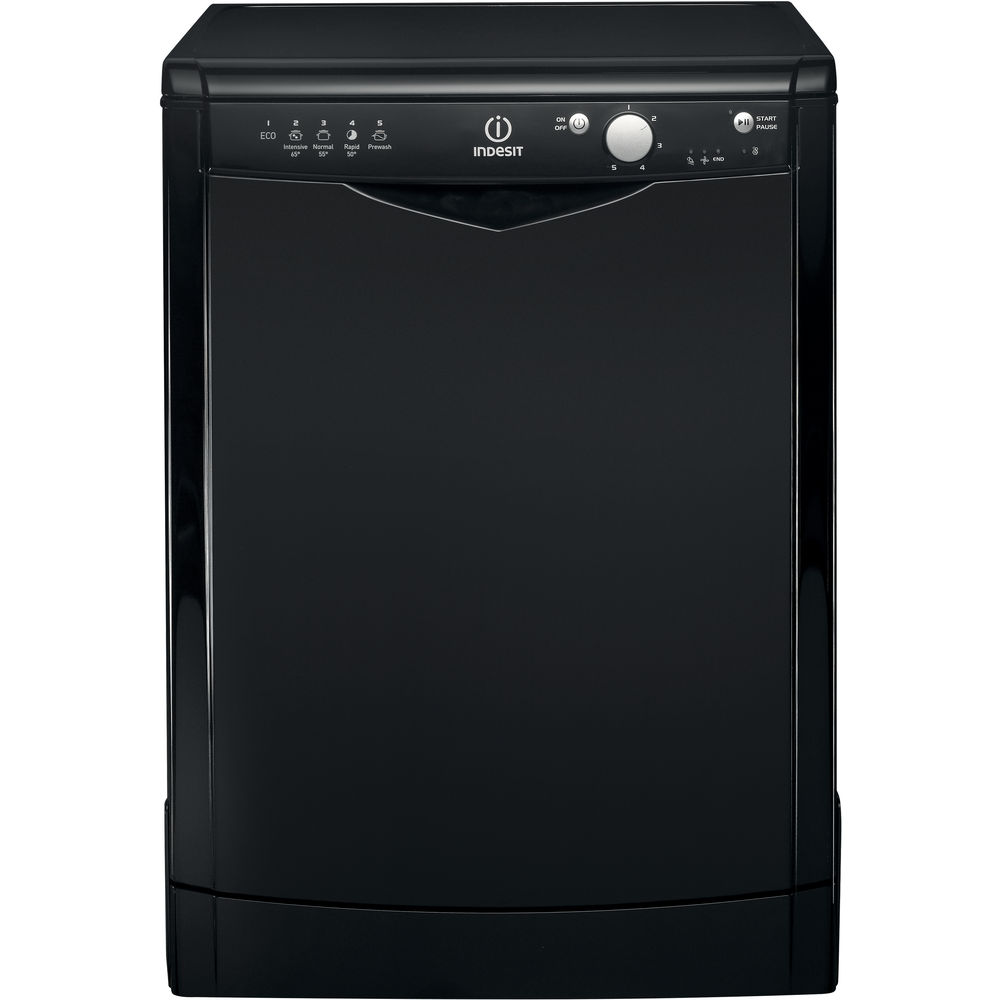 Indesit DFG 15B1 K Ecotime Dishwasher in Black