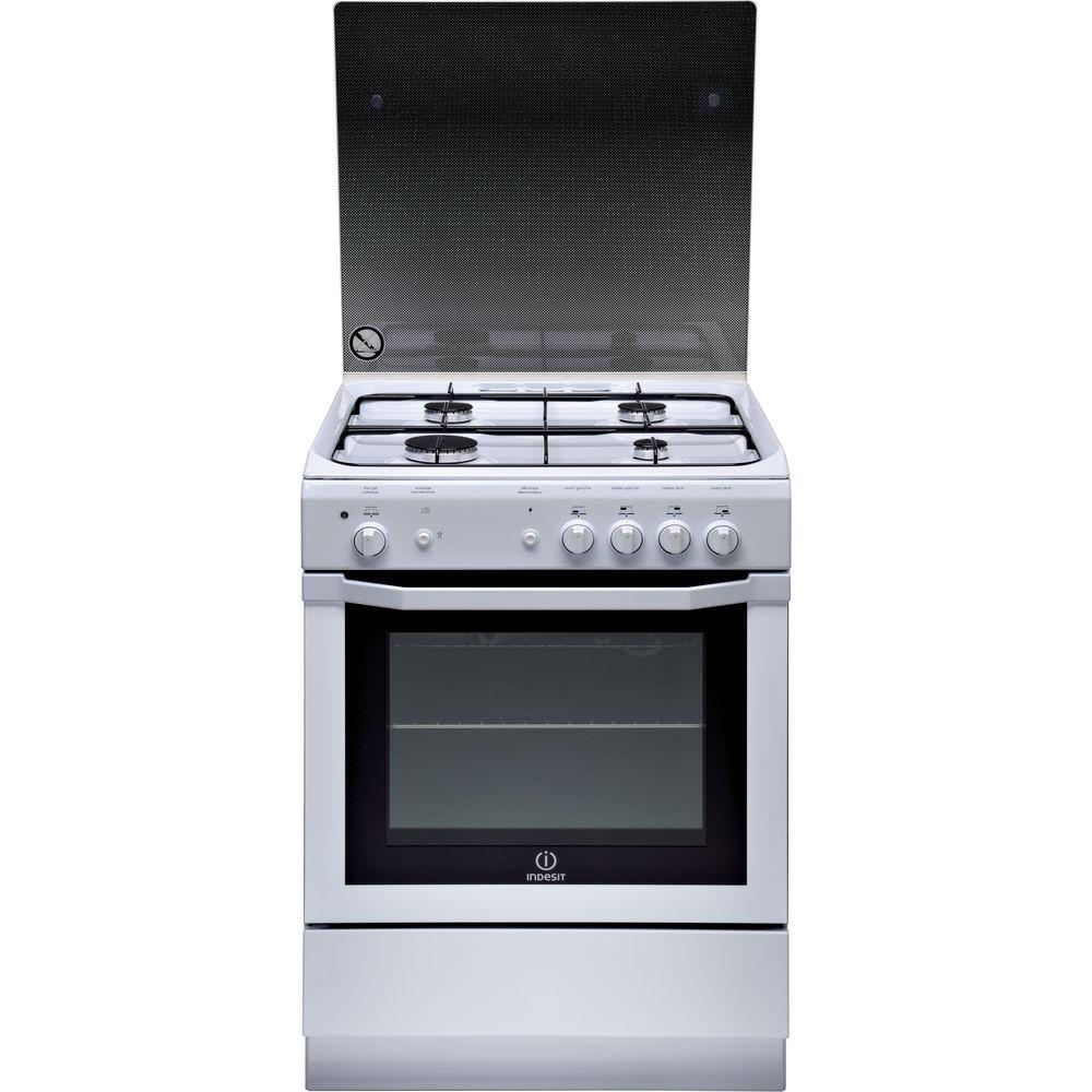 regard détaillé 093f9 90bbb Cuisinière gaz posable Indesit: 60 cm - I6GGC2G W FR
