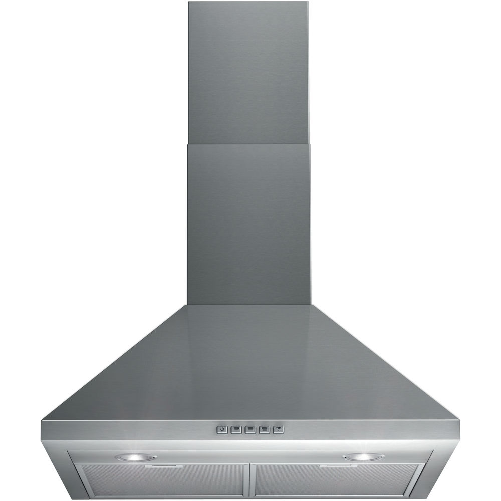 Wall mounted cooker hood: chimney design