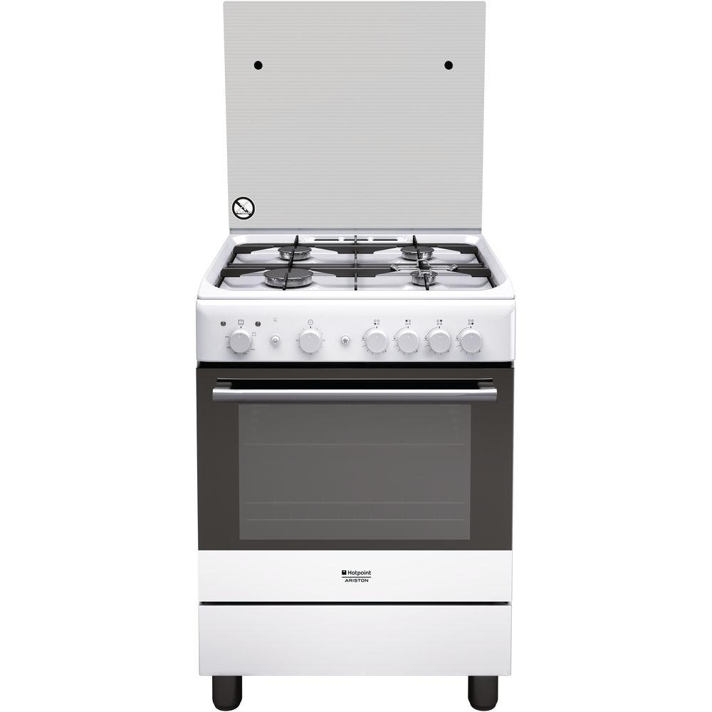 60 cm: Cucina a gas a libera installazione Hotpoint - H6GG1F ...