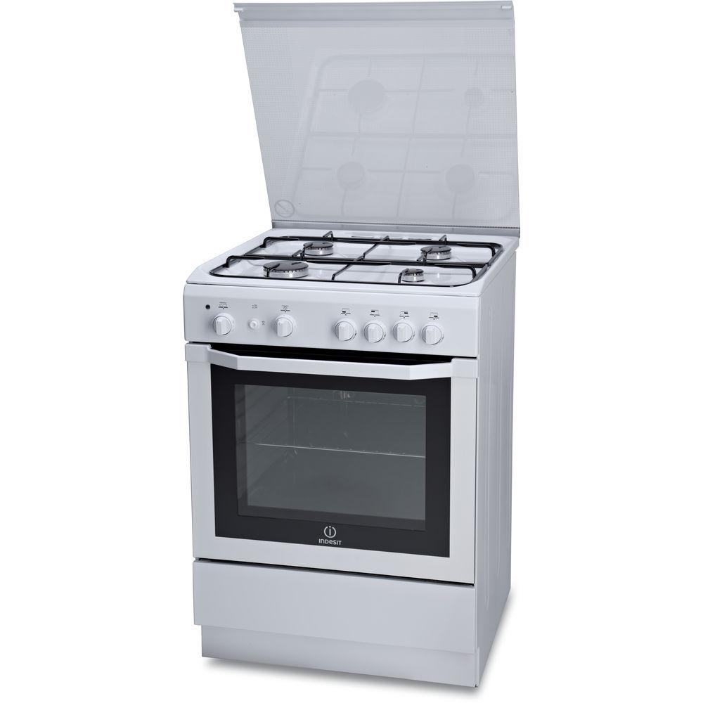 Cucina a gas a libera installazione Indesit: 60 cm - I6GG1F 1 W I