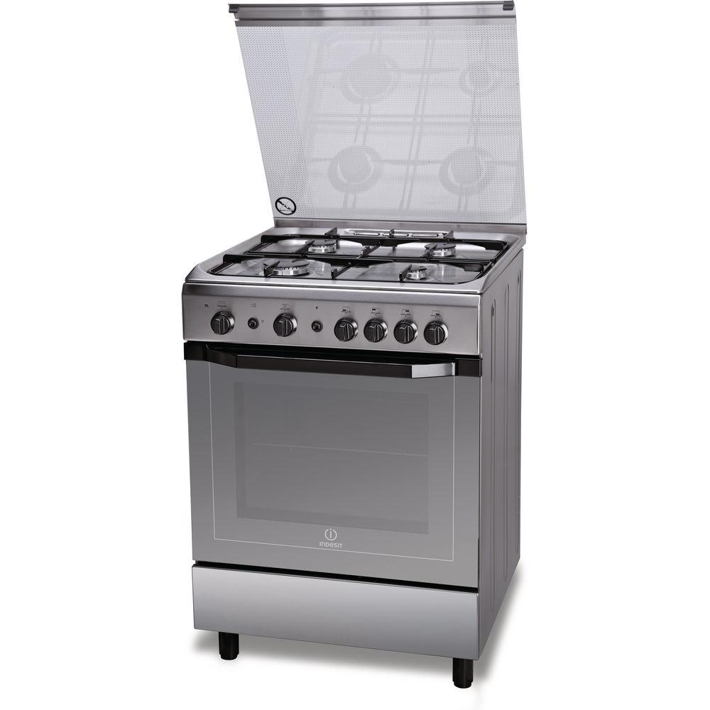 Cucina a gas a libera installazione Indesit: 60 cm - I6GG1F X I