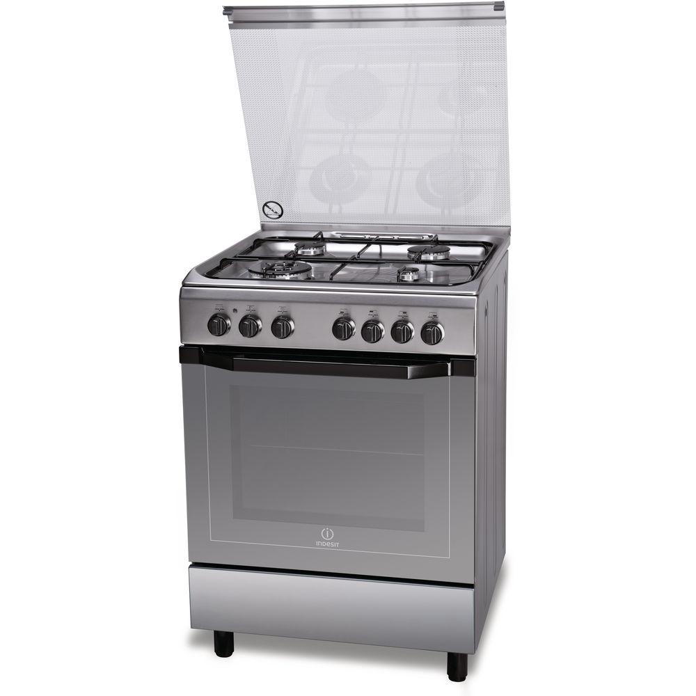 Cucina elettrica a libera installazione Indesit: 60 cm - I6TMH2AF X I