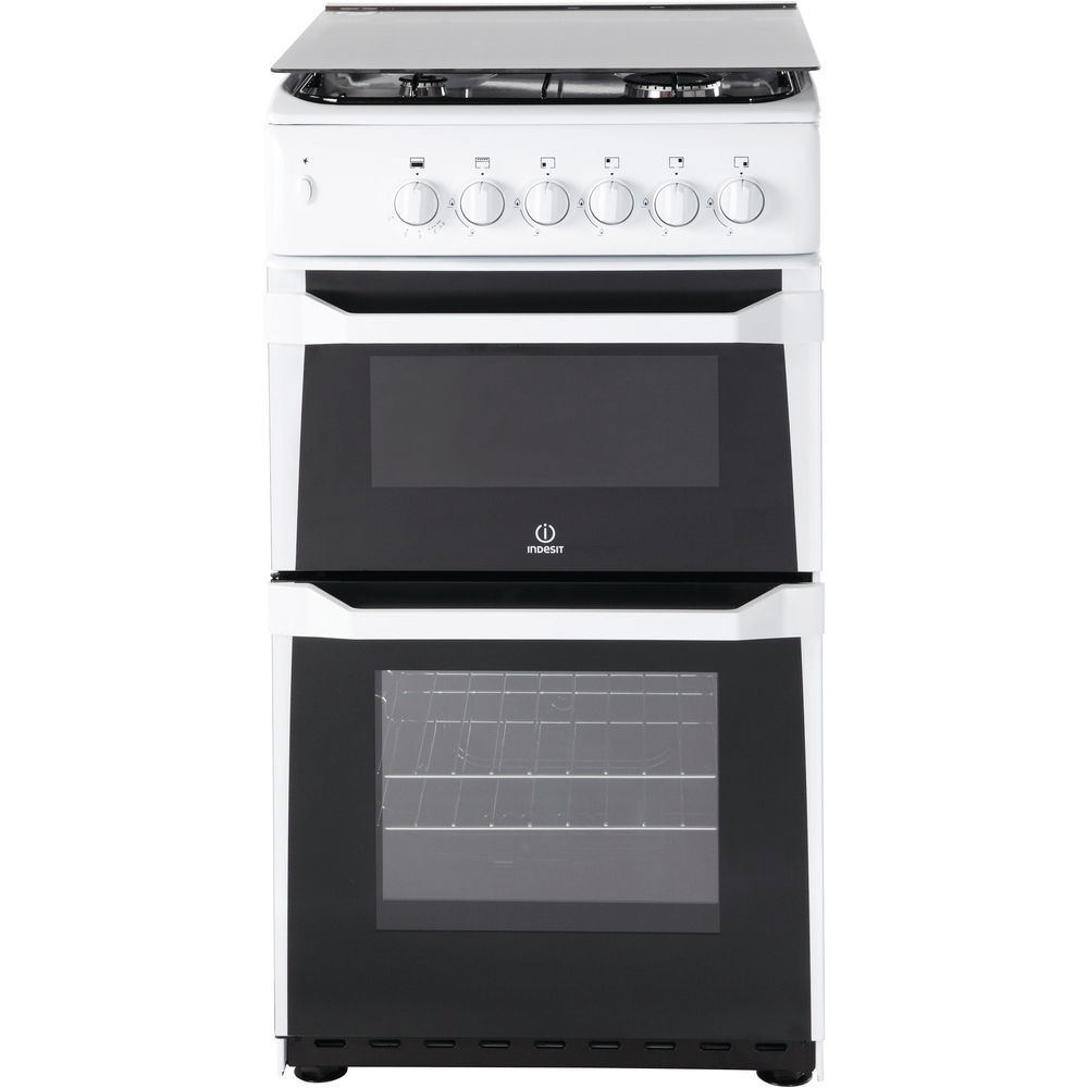 gas freestanding double cooker 50cm
