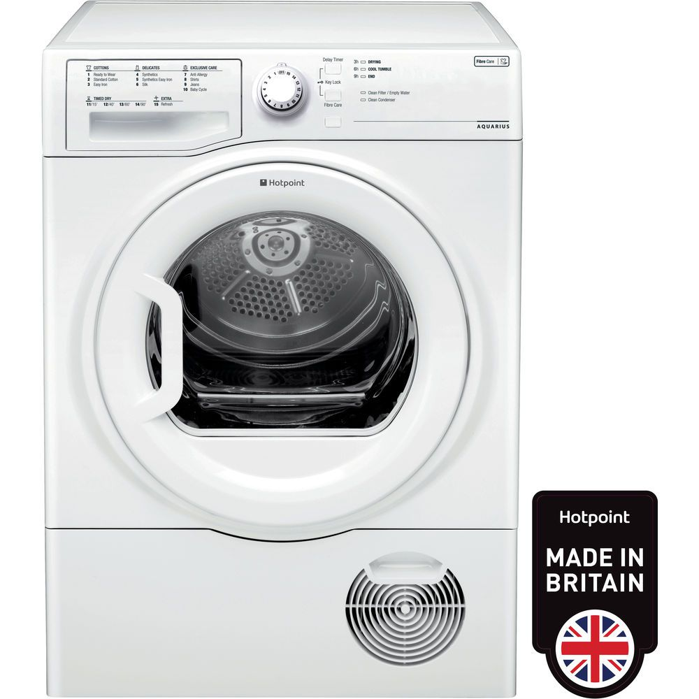 Hotpoint Aquarius TCFS 83B GP Tumble Dryer - White