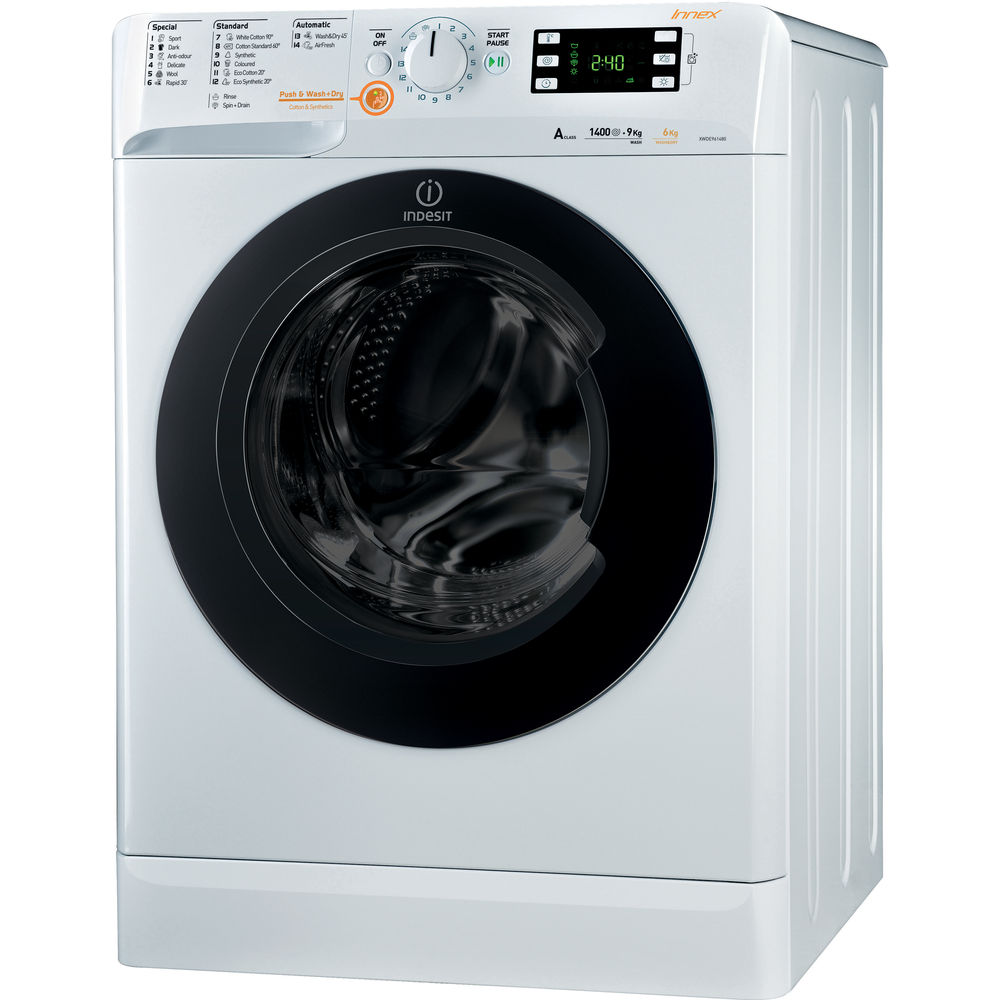 indesit innex xwde 961480x wkkk washer dryer in white xwde 961480x wkkk uk. Black Bedroom Furniture Sets. Home Design Ideas