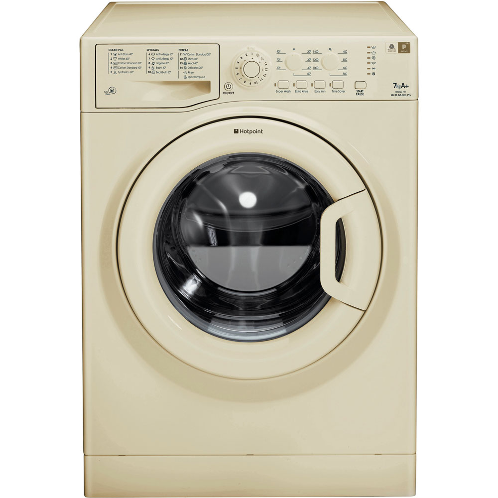 Hotpoint Aquarius WMAQL 721A Washing Machine - Cream