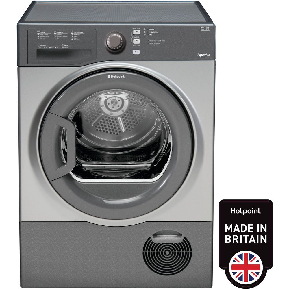 Hotpoint Aquarius TCFS 83B GG Tumble Dryer - Graphite