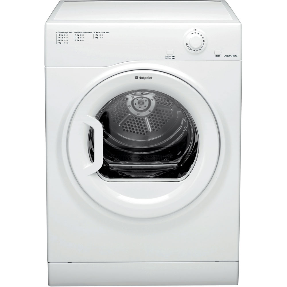 Hotpoint Aquarius TVFM 70B GP Tumble Dryer - White
