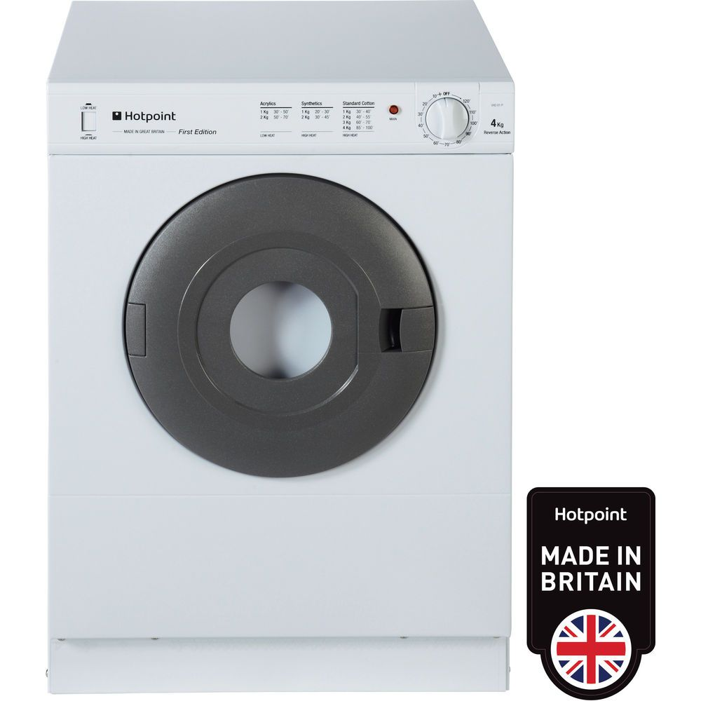 Hotpoint First Edition V4D 01 P Tumble Dryer - White