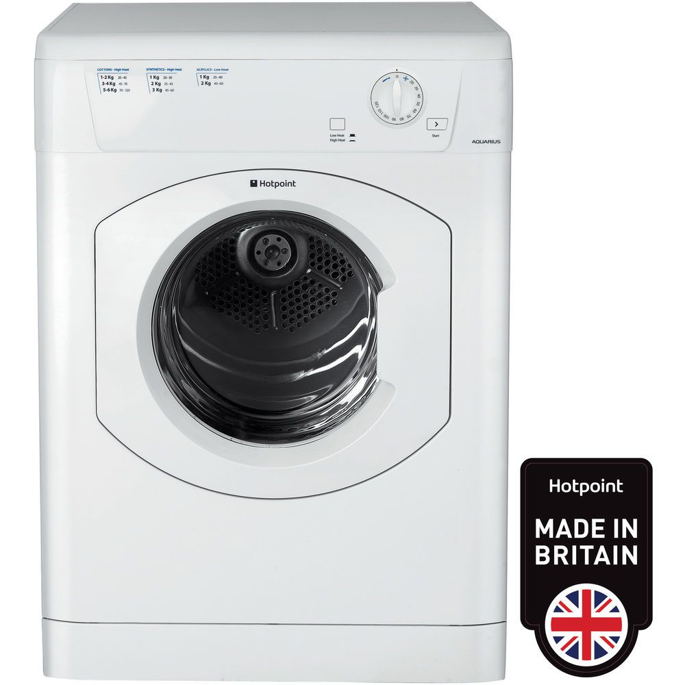 Hotpoint Aquarius TVHM 80C P Tumble Dryer - White