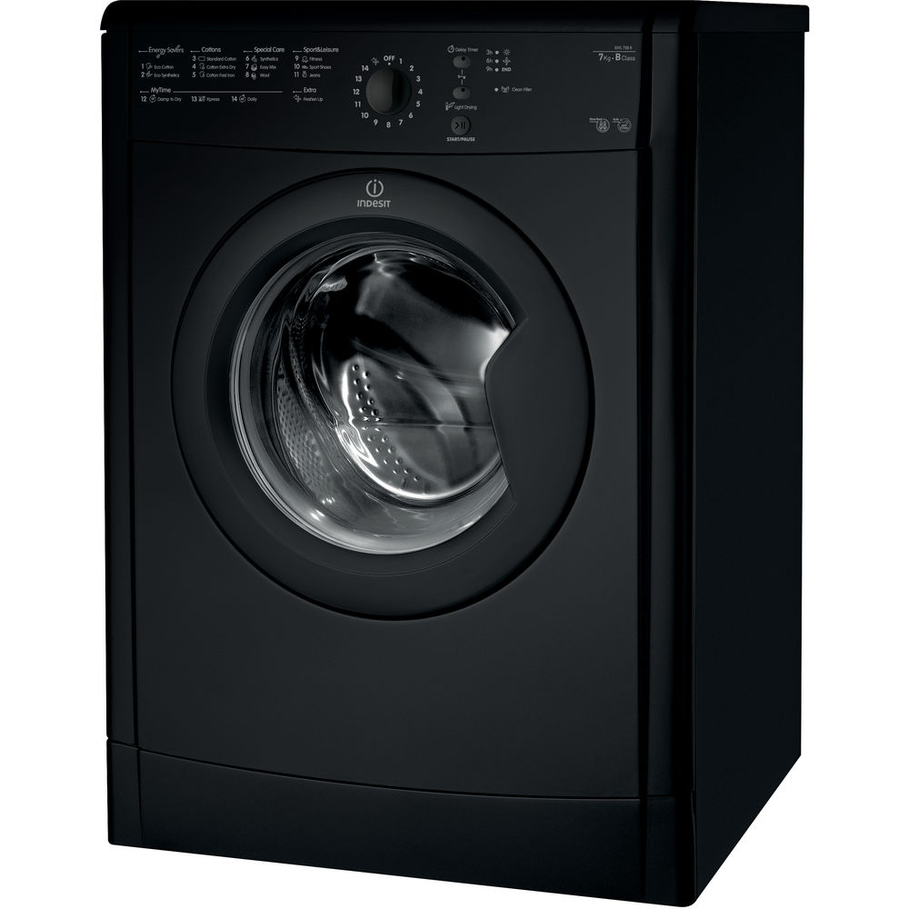 Indesit Ecotime IDVL 75 B R K Tumble Dryer in Black