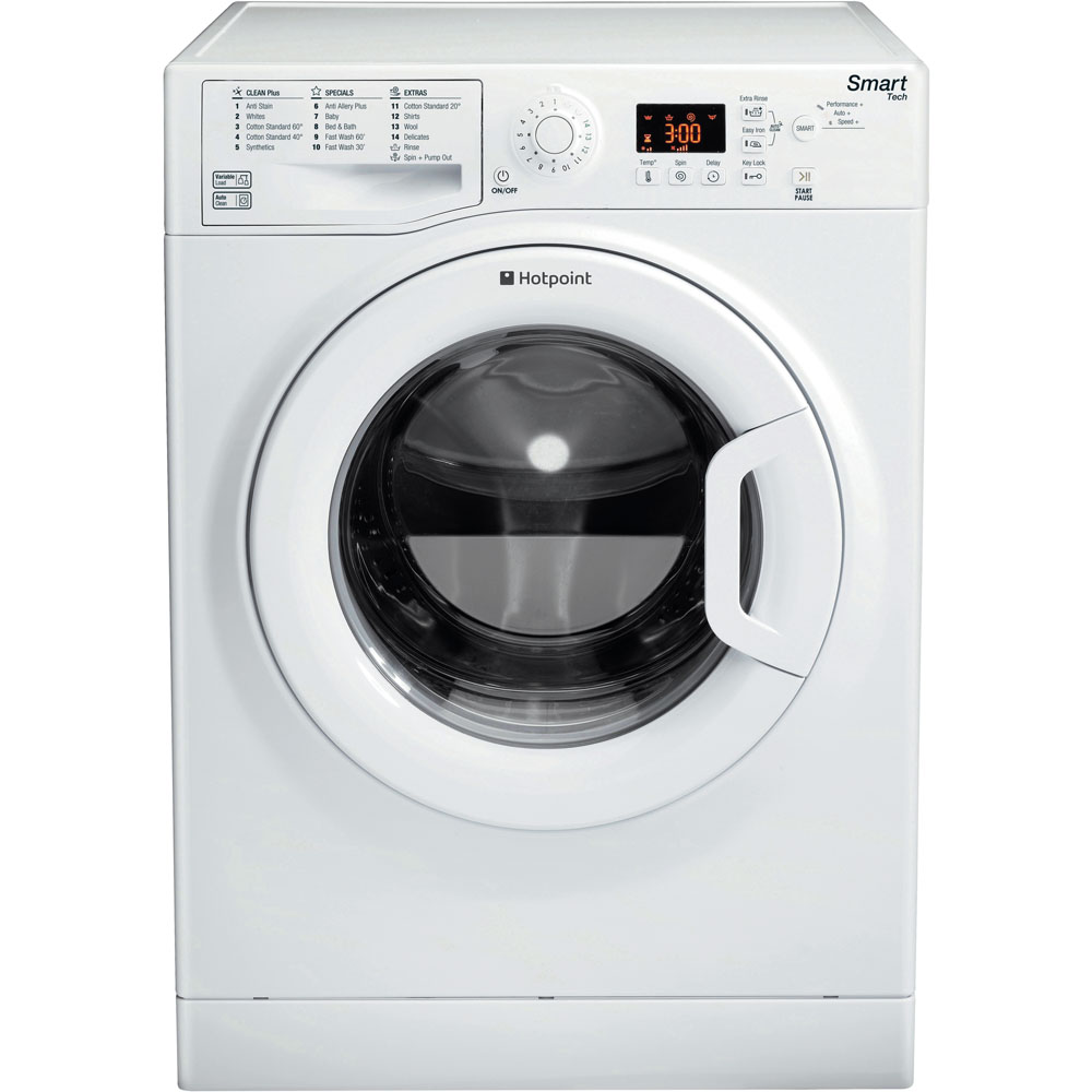 Hotpoint Smart WMFUG 1063P Washing Machine - White