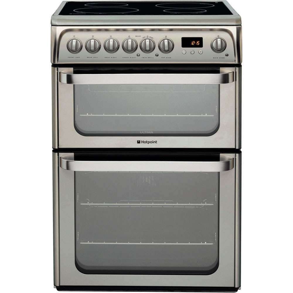 Hotpoint Ultima HUI611 X Cooker - Stainless Steel
