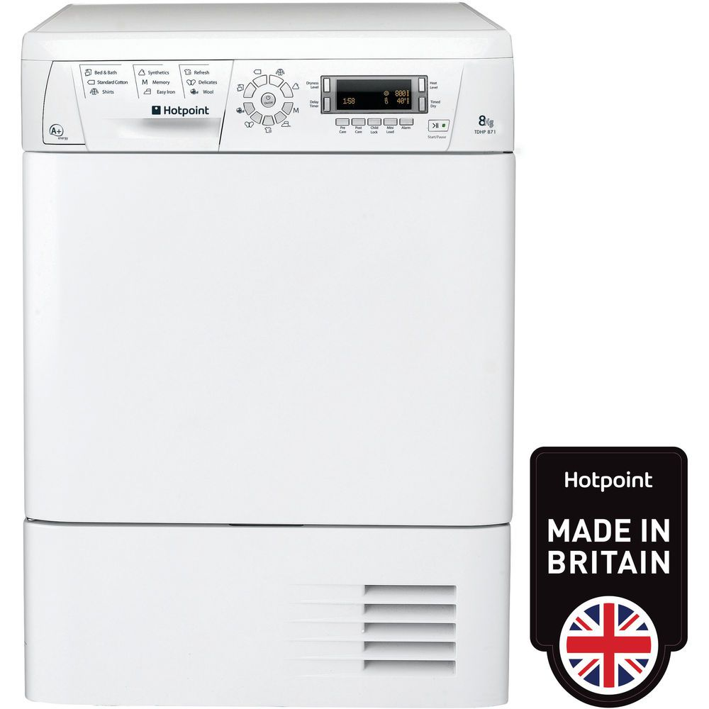 Hotpoint TDHP 871 RP Tumble Dryer - White
