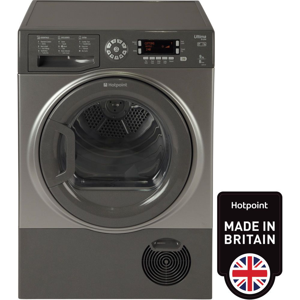 Hotpoint Ultima S-Line SUTCD97B6GM Tumble Dryer - Graphite