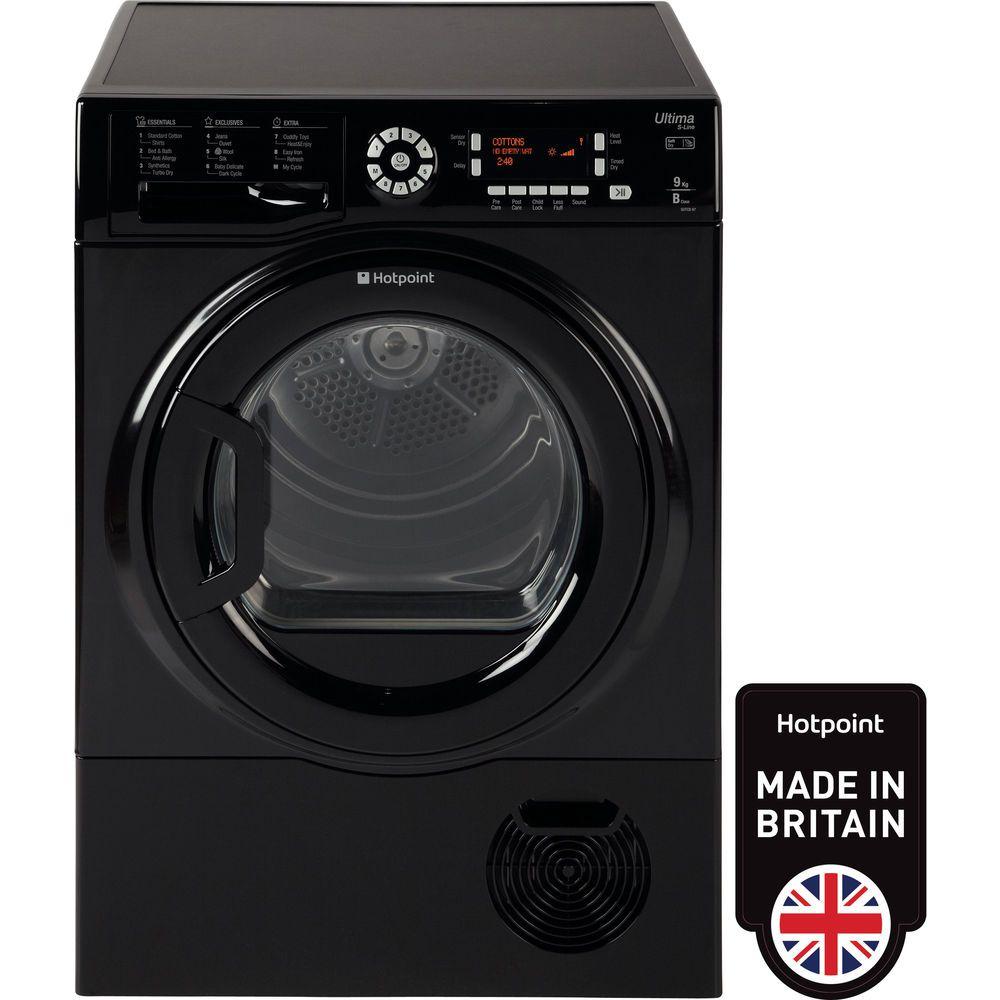 Hotpoint Ultima S-Line SUTCD 97B 6KM Tumble Dryer - Black