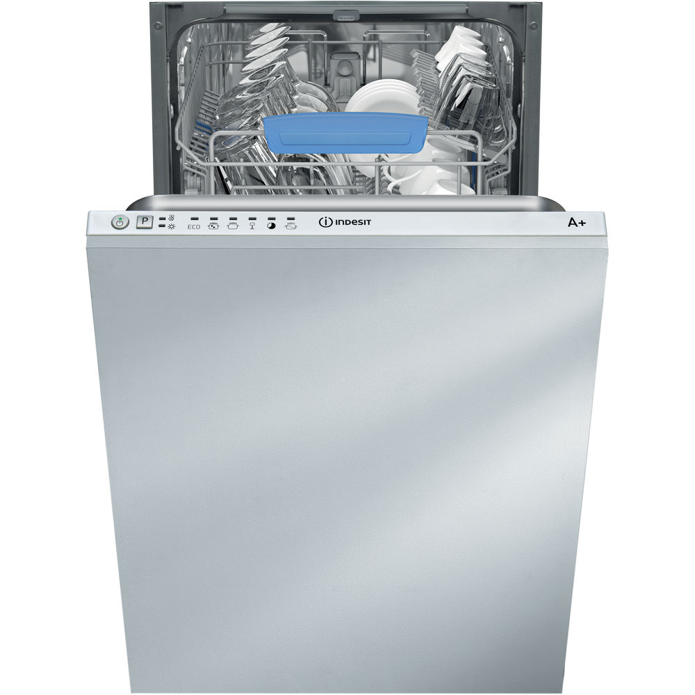 Lavavajillas integrado Indesit: Delgado, color blanco