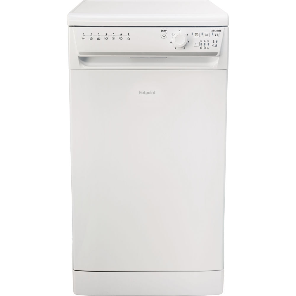 slimline: white color, Hotpoint dishwasher