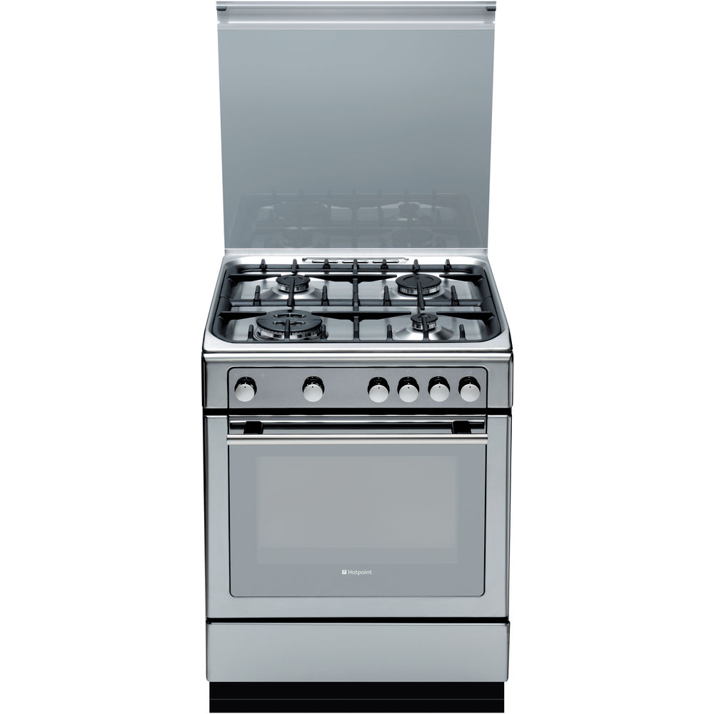 hotpoint gas freestanding cooker 60cm dhg65sg1cx hotpoint. Black Bedroom Furniture Sets. Home Design Ideas