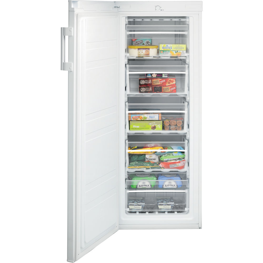 Freestanding upright freezer: white colour