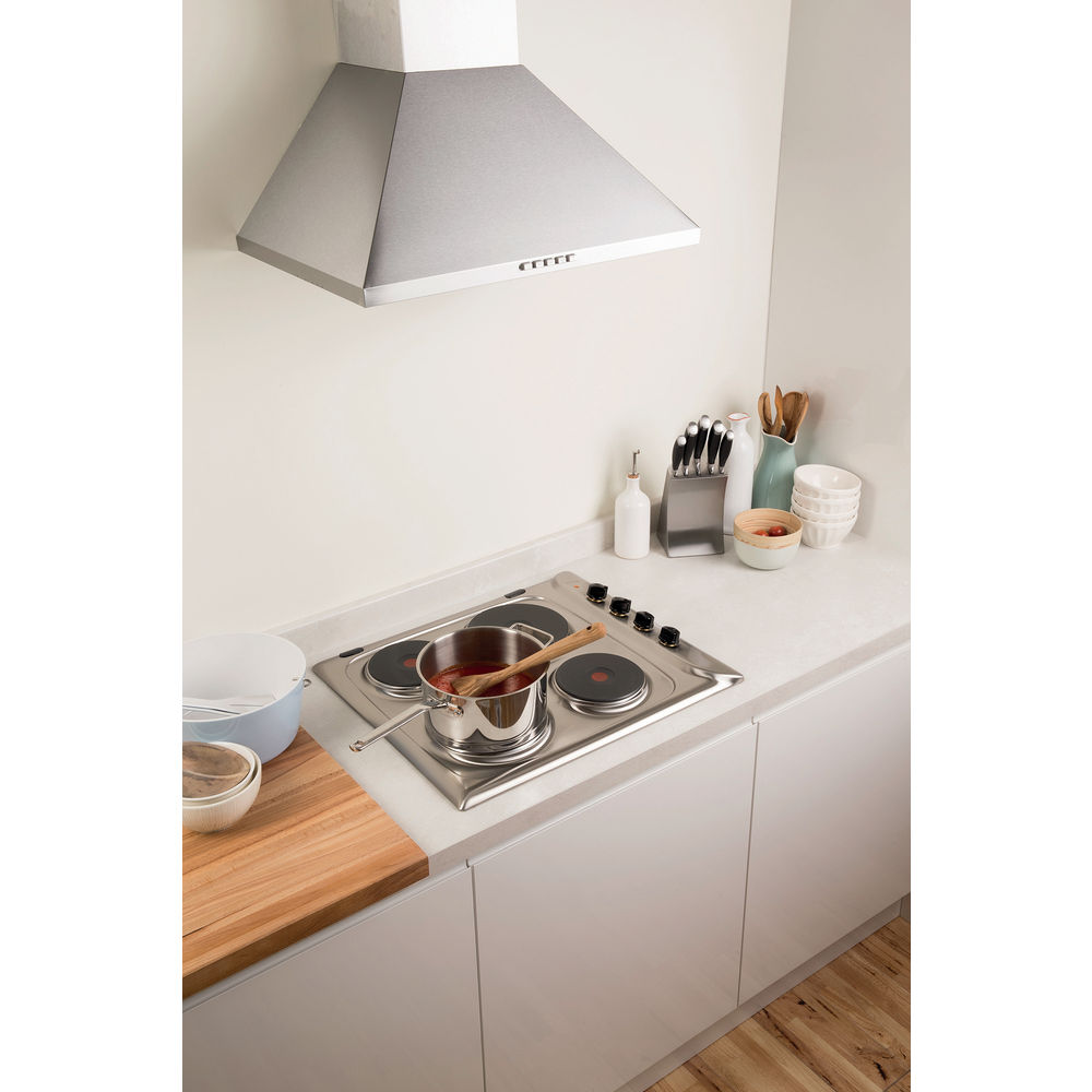 Indesit PIM 604 IX GB Electric Hob in Stainless Steel