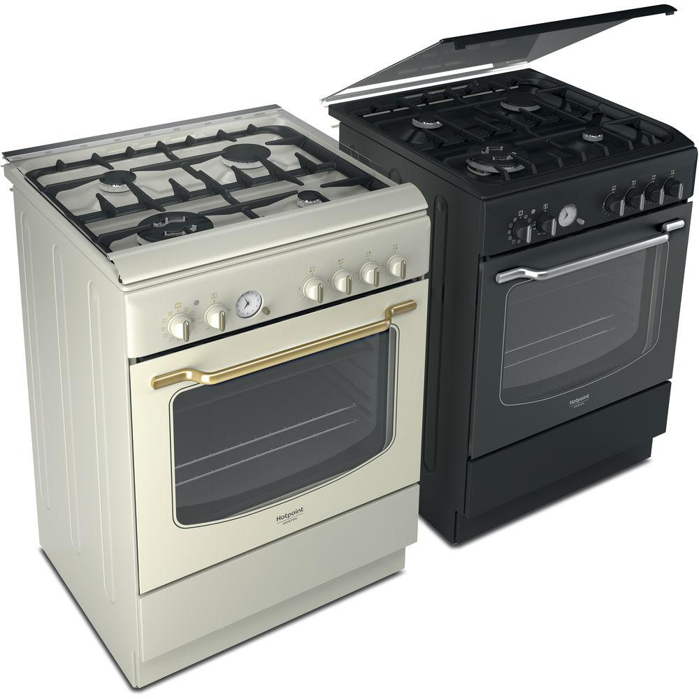 60 cm: Cucina a gas a libera installazione Hotpoint ...