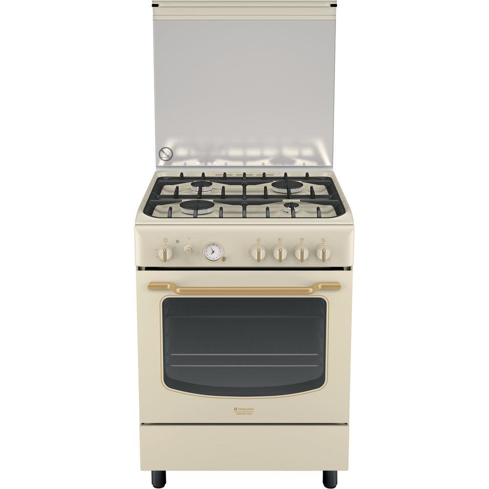 60 cm: Cucina a gas a libera installazione Hotpoint - HT6GG3F C (OW ...