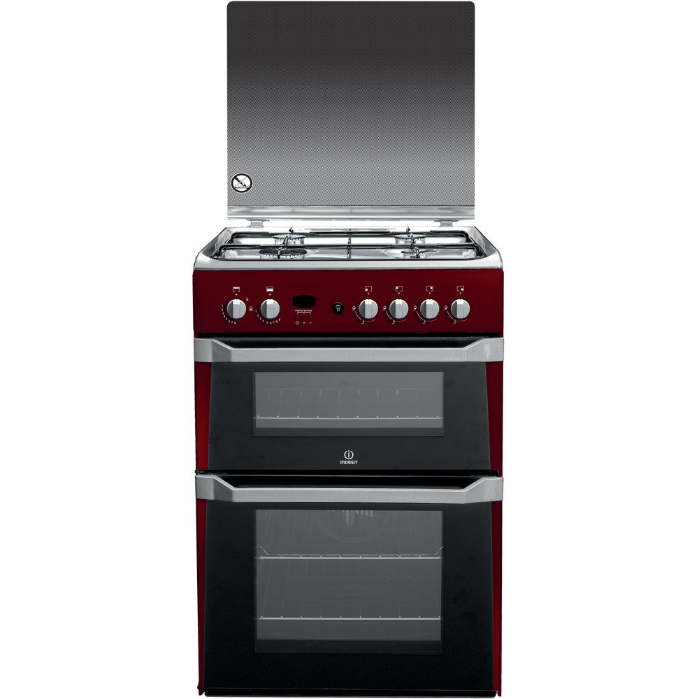 Indesit ID60G2(R) Cooker in Red