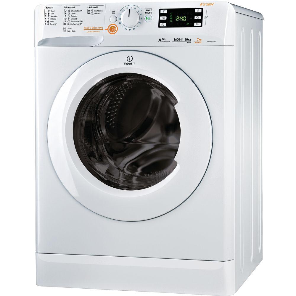Indesit Innex XWDE 1071681X W Washer Dryer in White
