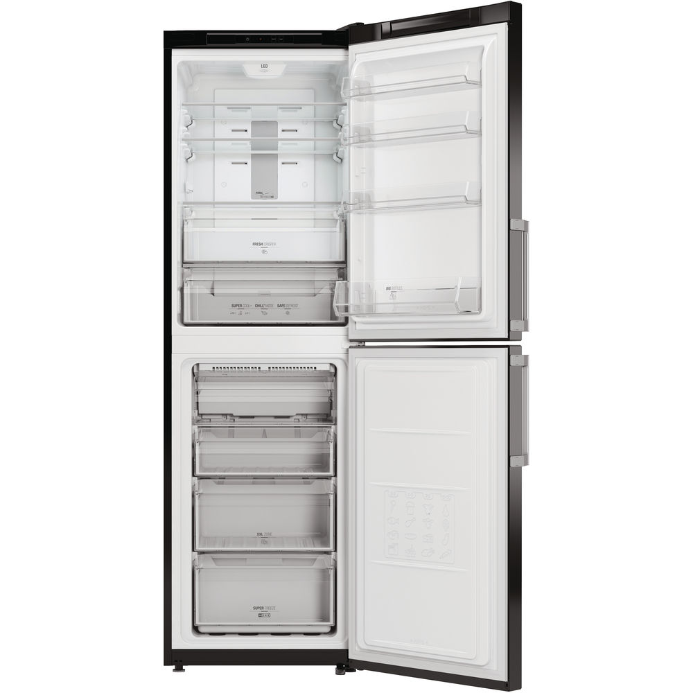 Hotpoint Day 1 XECO85 T2I KH Fridge Freezer - Black