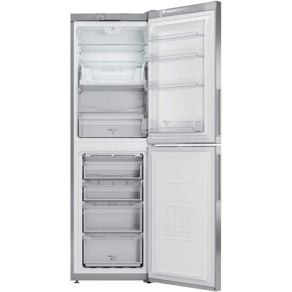 Hotpoint Day 1 LEX85 N1 G Fridge Freezer - Graphite