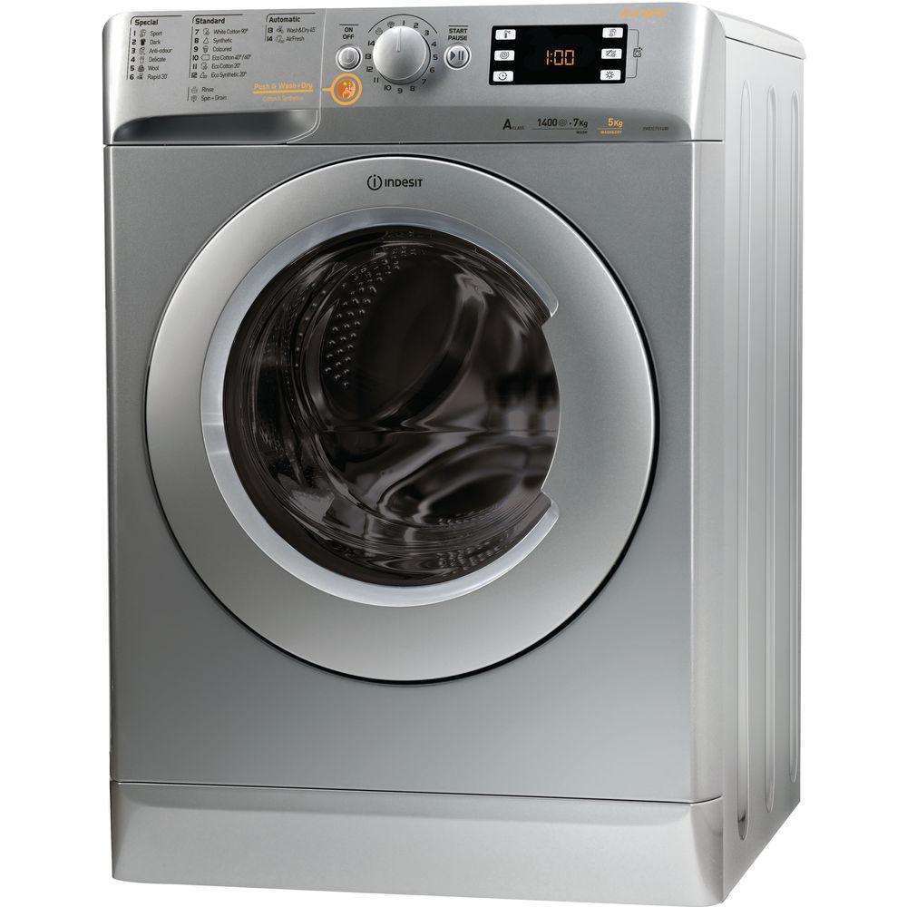 Indesit Innex XWDE 751480X S Washer Dryer in Silver