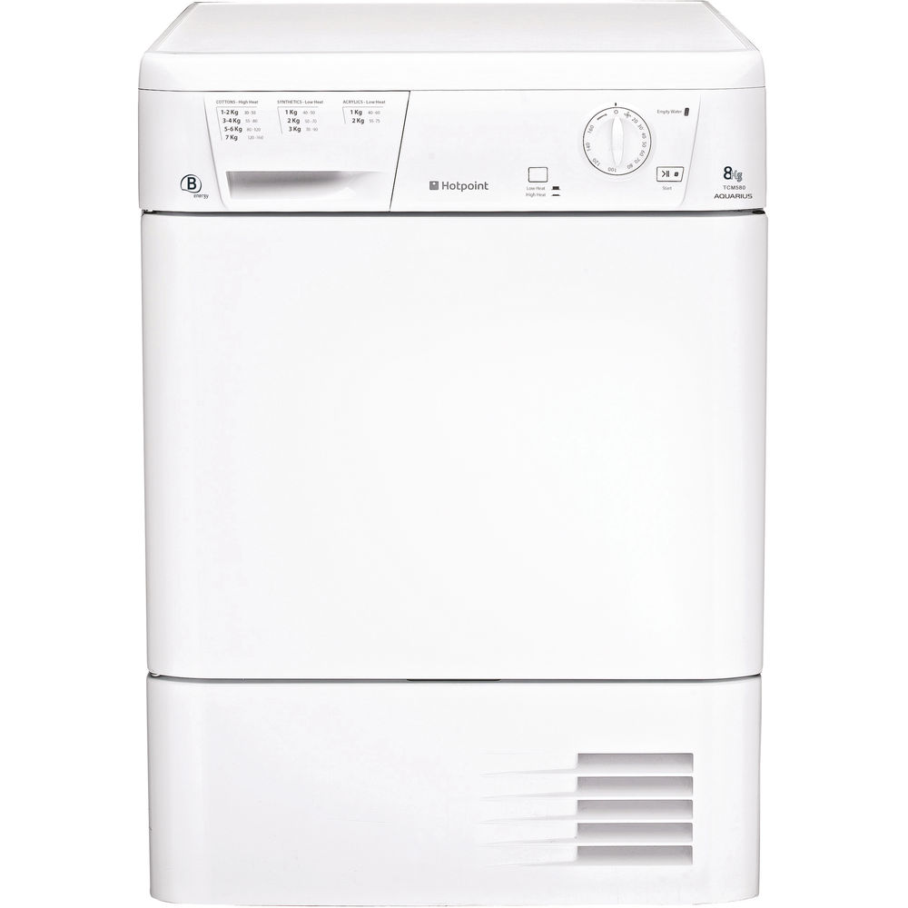 Hotpoint condenser tumble dryer freestanding 8kg tcm 580 b puk hotpoint aquarius tcm 580 b p tumble dryer white cheapraybanclubmaster Image collections