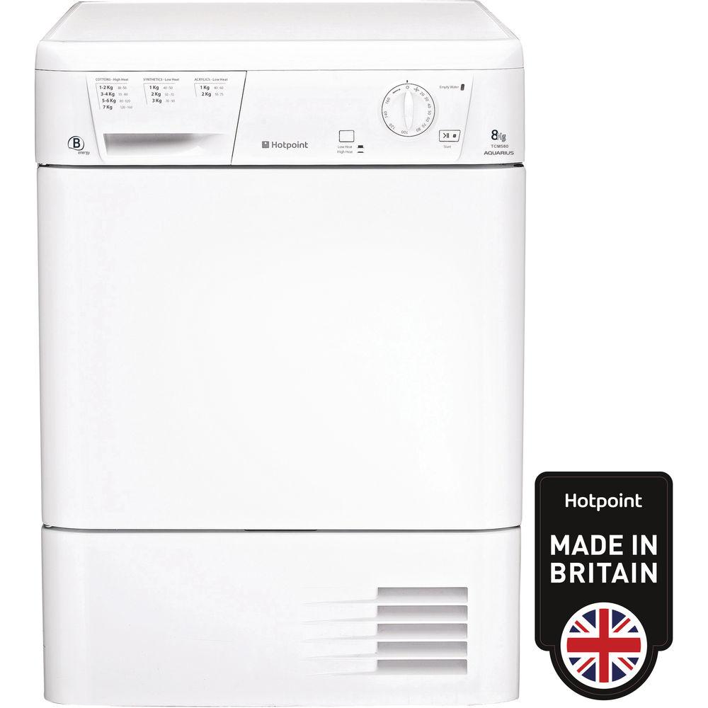 Hotpoint Aquarius TCM 580 B P Tumble Dryer - White