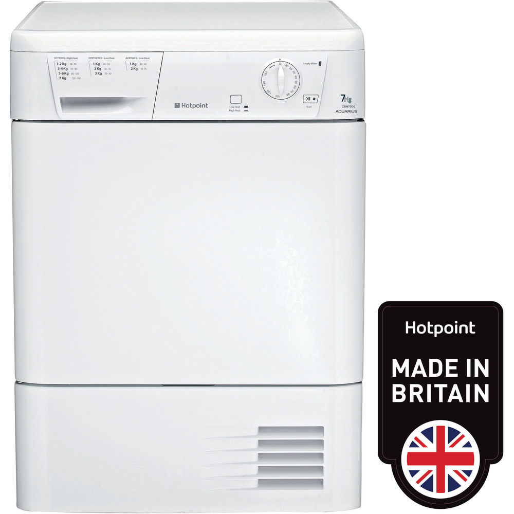 Hotpoint Aquarius CDN 7000B P Tumble Dryer - White