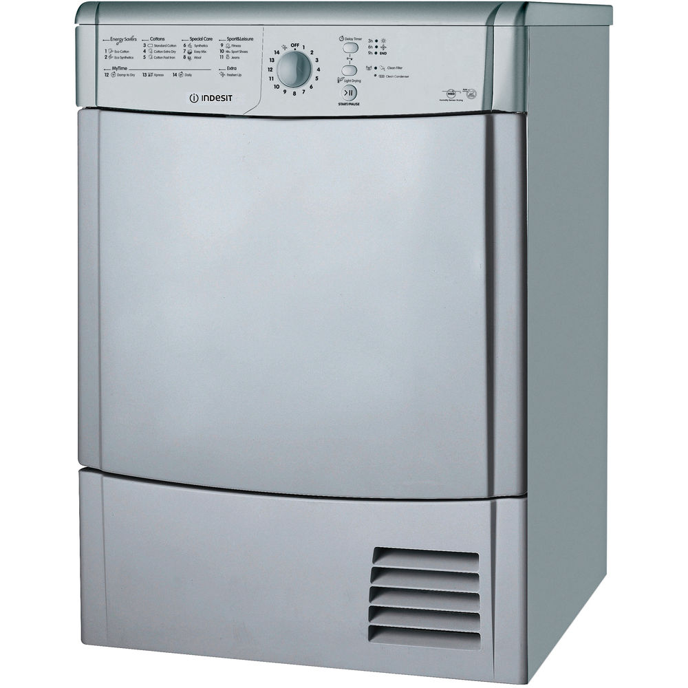 Indesit Ecotime IDCL 85 B H S Tumble Dryer in Silver