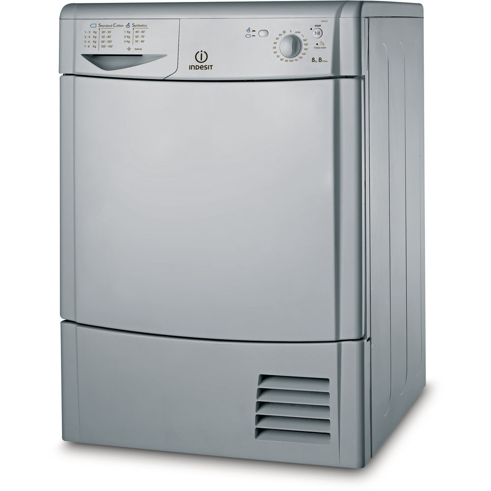 Indesit Ecotime IDC 8T3 B S (UK) Tumble Dryer in Silver