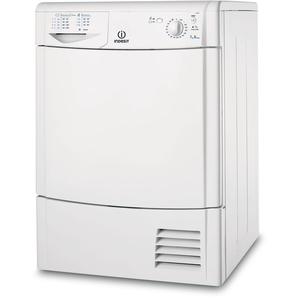 Indesit EcoTime IDC 8T3 B Tumble Dryer in White - IDC 75 B UK