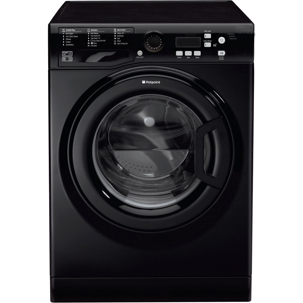 Hotpoint Experience Eco WMBF 742K Washing Machine - Black