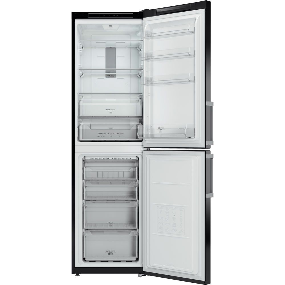 Hotpoint Day 1 XAG95 T1I KH Fridge Freezer - Black