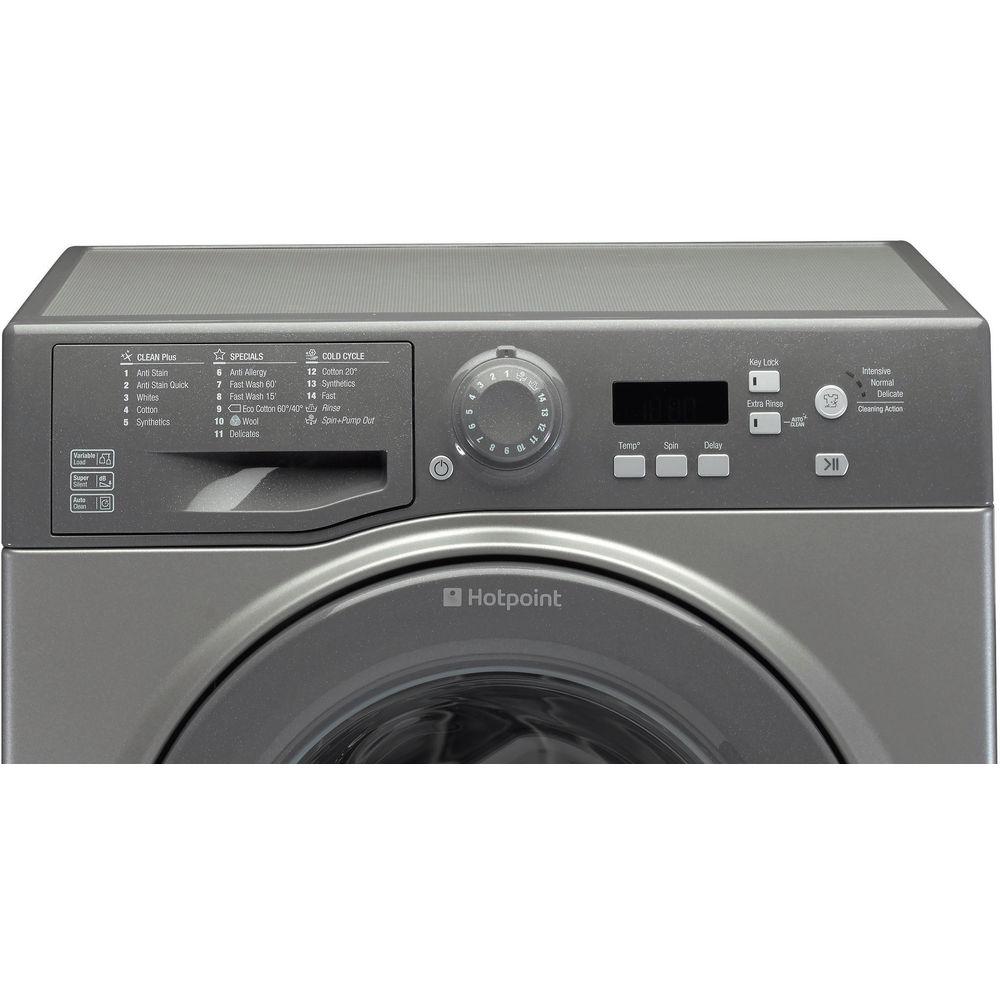 Hotpoint Experience Eco WMBF 742G Washing Machine - Graphite