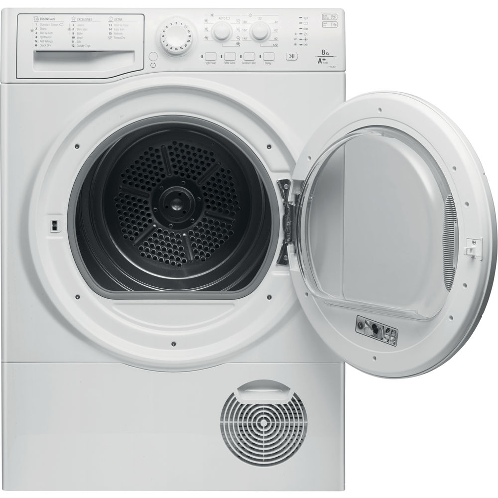 Hotpoint Heat Pump Tumble Dryer Freestanding 8kg Ftcl 871 Gp Uk Aquarius Washing Machine Wiring Diagram White